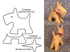 Новогодняя игрушка собачка своими руками
