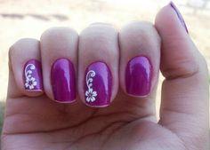 Adesivos para Unhas com Desenhos de Flores - Unhas Decoradas Nails Inspiration, Pretty Nails, Nail Colors, Nail Art Designs, Delicate, Beauty, Maria Clara, Nail Ideas, Nailart
