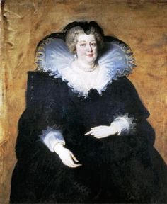 Marie de Medici who was born on April 26, 1575, was one of two surviving children of Francesco I de Medici, Grand Duke of Tuscany and his wife Johanna, Archduchess of Austria. In October 1600, she married King Henry IV of France, after the king divorced his first wife Marguerite de Valois. As it was the tradition at the time, she brought as part of her dowry 600,000 crowns, and enormous quantities of jewels and jewelry.