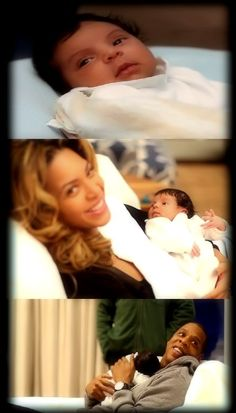 Introducing Blue Ivy - Beyonce & JayZ's Baby... This kid is beautiful!