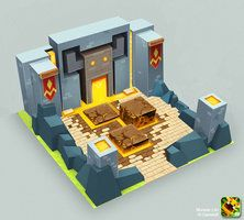 Building concept for the IOS/Android game Monster Life. Painted over a base Monster Life - Medieval - Dungeon Game Environment, Environment Concept, Environment Design, Bg Design, Game Design, Game Concept, Concept Art, Village Games, Zombie Tsunami