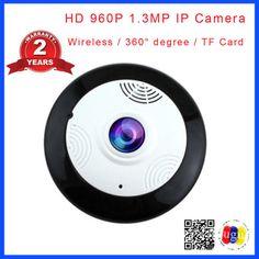 HD 960P 1.3MP 360 Degree Fisheye Panoramic Camera HD Wireless Panorama CCTV IP camera P2P Indoor Cam Security WiFi Camera Cctv Security Systems, Ip Camera, Wifi, Indoor, Interior