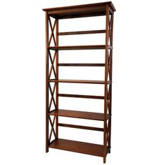 Montego 5-tier Bookcase | Overstock.com Shopping - The Best Deals on Media/Bookshelves