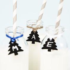 Blackboard Tree Christmas Wine Glass Charms, by Sophia Victoria Joy via Folksy, £0.95