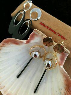 Orecchini in metallo...vetrina #sabinanosmokingsibijou