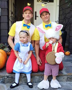 Our Favorite Celebrity Halloween Costumes - Neil Patrick Harris and David Burkta from #InStyle ~Omg they are all ADORABLE!