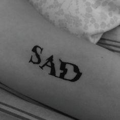 sad tattoo Sad Tattoo, Tattoo Quotes, Solid Black Tattoo, Black Tattoos, Sad Wallpaper, Body Mods, Tattoo Images, Tattoo Drawings, Blackwork
