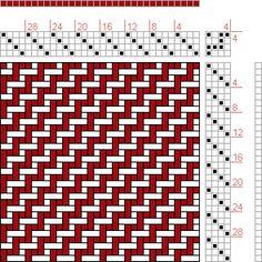 Hand Weaving Draft: Page 98, Figure 2, Orimono soshiki hen [Textile System], Yoshida, Kiju, 4S, 4T - Handweaving.net Hand Weaving and Draft ...