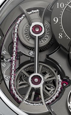 Luxury Watches For Mens Picture Description Romain Gauthier Ruby Chain and Snail Constant Force System - Amazing Watches, Beautiful Watches, Cool Watches, Rolex Watches, Dream Watches, Fine Watches, Stylish Watches, Luxury Watches For Men, Skeleton Watches