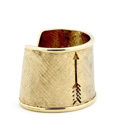Take a look at this Gold Arrow Cutout Cuff by House of Harlow 1960 on #zulily today!