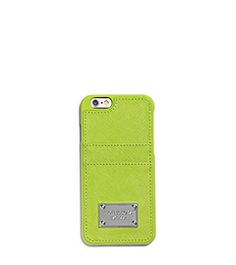 Saffiano Leather Pocket Case For iPhone 6 by Michael Kors