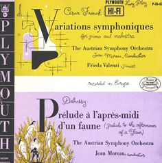"César Franck ""Variations Symphoniques for Piano and Orchestra"" Debussy "" Prélude à l'apres-midi d'un Faune (Prelude to the Afternoon of a...P-10 67 - signed Steinweiss"