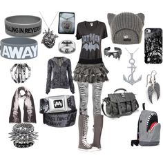 """GREY/GRAY"" by crazybvbchick on Polyvore"