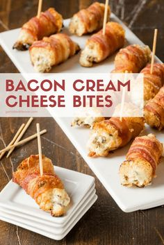 Bacon Cream Cheese Bites are party food perfected. Nothing disappears faster at … Bacon Cream Cheese Bites are party food perfected. Nothing disappears faster at … - Everything About Appetizers Fancy Appetizers, Bacon Appetizers, Finger Food Appetizers, Finger Foods, Appetizer Recipes, Appetizers With Cream Cheese, Savoury Finger Food, Appetizer Ideas, Christmas Appetizers