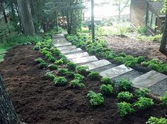 stone steps hill | stone steps in milford michigan timber steps in brighton michigan