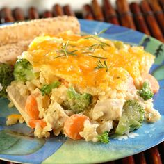 Creamy Chicken and Rice Bake is a quick and hearty meal for your family! Terrific to serve on a hectic day. Ready in just 1 hour.