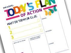 Printable Day Planner Organiser Rainbow by SamOssie on Etsy, £2.50