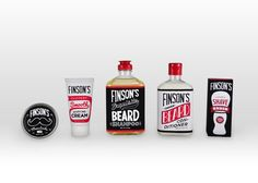 Finson's beard care packaging!