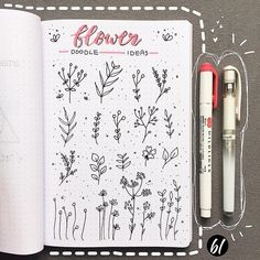 Doodle ideas to try in your bullet journal. Have fun decorating your bujo (bullet journal) with these creative doodle ideas. Bullet Journal Tools, Bullet Journal Banner, Bullet Journal Notebook, Bullet Journal Aesthetic, Bullet Journal Spread, Bullet Journal Ideas Pages, Bullet Journal Inspiration, Flower Doodles, Instagram