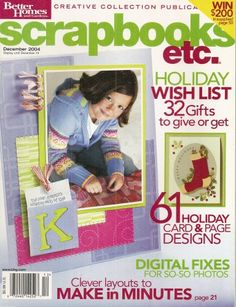Scrapbooks Etc Magazine  December 2004 6 -- Check out the image by visiting the link.Note:It is affiliate link to Amazon.