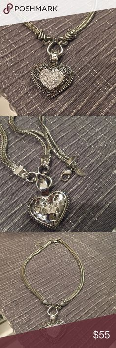 Brand new Lia Sophia love dust heart necklace Brand new. Never worn. Lia Sophia love dust heart pendant or necklace. Also have the matching bracelet. (Separate listing) special bundle pricing Lia Sophia Jewelry Necklaces