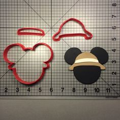 Mickey Mouse Safari Cookie Cutter Set
