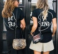 Best Friend New Pattern Cotton T-shirts Printed Letters TWO PIECE