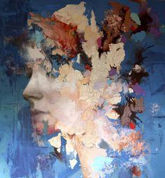 "Saatchi Art Artist Jesùs Leguizamo; Painting, ""Kinetic"" - Featured on 21 Ways Wallpaper Can Reinvent Your Rooms: Part I - http://canvas.saatchiart.com/decor/inspiration/21-ways-wallpaper-can-reinvent-your-rooms-part-i"
