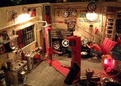 Auto Garage Diorama 1/18 - Kaufen/Verkauf Auto Garage Diorama modellauto - Online-modellautos.at