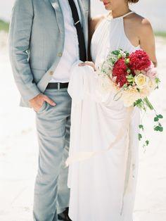 Beach #wedding inspiration   Photography: Lauren Kinsey www.laurenkinsey.com  Read More: http://www.stylemepretty.com/2014/01/17/beach-elopement-wedding-inspiration/
