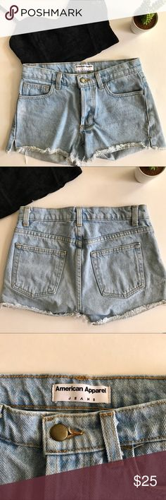 American Apparel Boyfriend Shorts 25 Iconic American Apparel light wash denim shorts in size 25. Mid-rise with hidden button fly. Very lightly worn & in fabulous condition! American Apparel has closed all stores and these are hard to find! Super flattering and versatile. Must have for the season. Open to offers. Bundle & save. I aim to ship the same day. American Apparel Shorts Jean Shorts