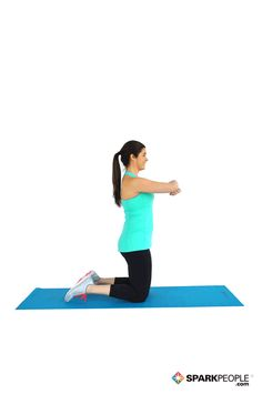 Genie Sit - Works hamstrings, glutes, quads, outer thigh, abs (Note: If your back hurts, do not lean as far back or have a partner hold your feet for support.)