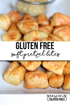 Who knew that gluten free could be this good? Check out this Gluten Free Soft Pretzel Bites Recipe that turns out fabulous! Plus they are vegan too! (Gluten Free Baking Tips) Gluten Free Treats, Gluten Free Desserts, Dairy Free Recipes, Gluten Free Pretzels, Gluten Free Appetizers, Meal Recipes, Gluten Free Homemade Bread, Healthy Gluten Free Snacks, Gluten Free Christmas Recipes