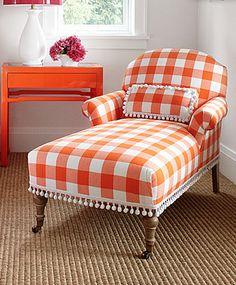 Orange. Buffalo checks!  love the trim too