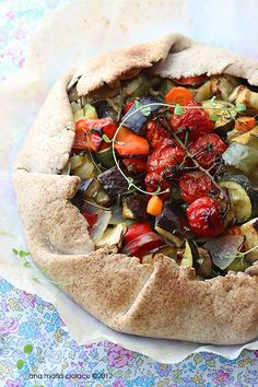 New Romanian Roasted Vegetable Tart. Love it, but hold the eggplant!