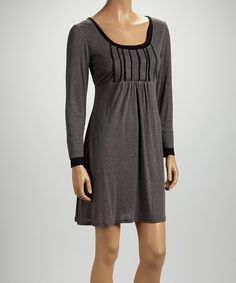 Take a look at this Gray Scoop Neck Dress on zulily today!