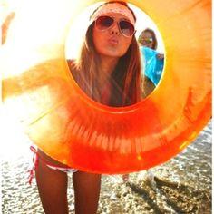 Orange innertube.