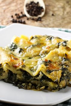 Lasagna Alfredo Recipe with Chicken & Spinach