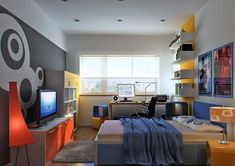 modern bedroom designs for young men - Google Search
