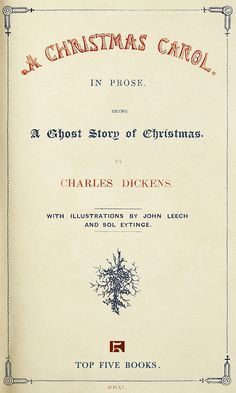 A Christmas Carol: Charles Dickens- readings from the original text will be done at the event.