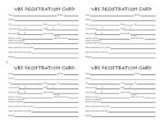 VBS Registration Form Sunday School Classroom Rooms Youth Bible Study