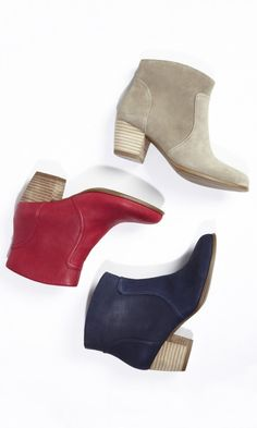 Versatile ankle bootie with a rounded toe and walkable stacked heel