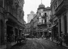 Bonifácio Street, towards Riachuelo Street (1920) - São Paulo, Brazil