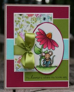 Card - love the layering and the bow in this one.