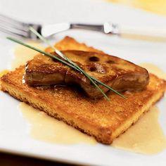 Seared Foie Gras with Ginger Cream Recipe | MyRecipes