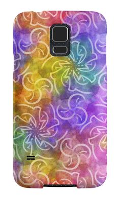 """""""Rainbow's whirlwinds"""" Samsung Galaxy Cases & Skins by floraaplus 