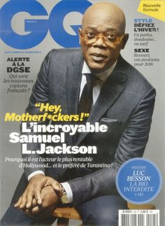 Samuel L. Jackson on the Cover of GQ featuring Majestic Filatures USA February 2016, #majesticfilaturesusa #actor #clothing #cpver #feature #february #february2016 #gq #gqmagazine #magazine #magazinecover #magazinefeature #press #samuelljackson #2016