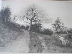 Etching of country lane J.O. Anderson 1891 w/remarque (02/24/2011)