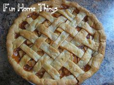 Homemade Apple Pie Recipe with link for how-to make a lattice top!