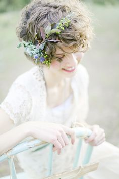 I don't want a crown, but this would be pretty so it extends more than just a clump of flowers at the bun.